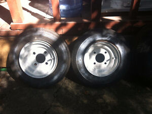 2 Sure Trail ST  4.80-8  Rims and Tires  $70