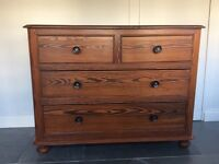 Antique Solid Pine Chest of Drawers