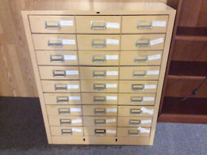 STEEL CABINET WITH 27 SMALL DRAWERS FOR TOOLS ETC ONLY $150.00
