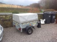 Camping trailor galvanised works as should good condition with lights mudguards top frame with cover