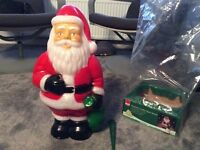 2' high outdoor Father Christmas with ground spike