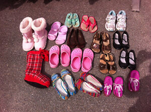 Girl's shoes numerous pairs/sizes