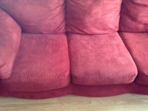 red microfiber couch and loveseat free delivery