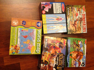 4 Melissa & Doug and 1 Orchard Toys Jigsaw Puzzles