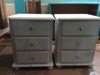 Pair of fusion white paint bedside units