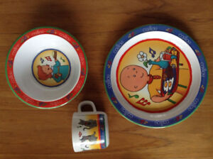 Caillou Plate, Bowl & Cup