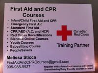 Red Cross first aid and CPR course dec 5-6