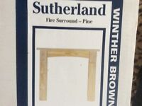 NEW PINE WOOD FIRE SURROUND BY SUTHERLAND WINTHER BROWN - BRAND NEW IN BOX