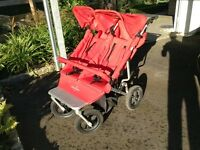 Red easy walker double buggie