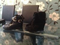 Size 4 wedge style boots