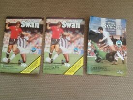 SWANSEA CITY MATCH PROGRAMMES (x3)