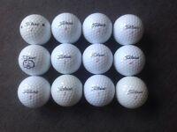 12 TITLEIST GOLF BALLS