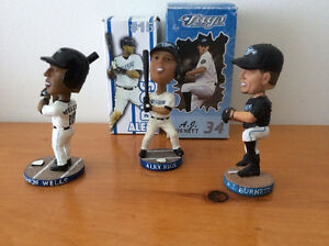 3 blue jays mini bobbleheads