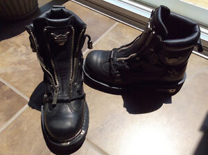 Women's leather Harley Davidson boots
