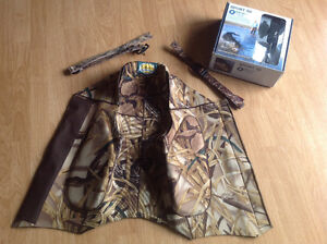 Cabelas tri-tropics collar and neoprene camouflage hunting vest