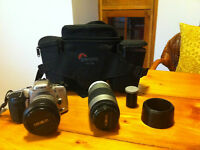 Minolta DYNAX 500si and extra lens AF 75-300, and carry bag