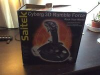 Saitek Cyborg 3D Rumble Force joystick & free Saitek joystick & CD drive