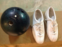 Bowling shoes and Ball
