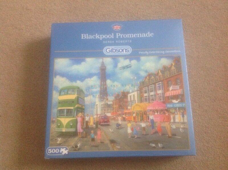 500 Piece GIBSONS JIGSAW PUZZLE Blackpool Promenade