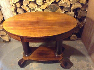 Mahogany oval hall table