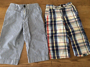 2 Pairs of Boys Baby Gap Lightweight Pants, Size 18-24 Months