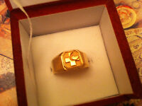 10KT Solid Yellow gold ring,