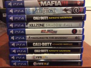 Fifa 17, Mafia3, BF1, COD Infinite Warfare PS4 Games (Like New)