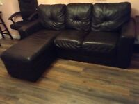Leather right hand chaise sofa for 150 pounds