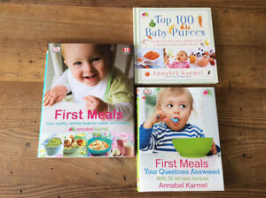 3 Baby Food Cookbooks all by author Annabel Karmel