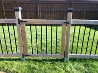 45 foot fence for sale- wood and wrought iron