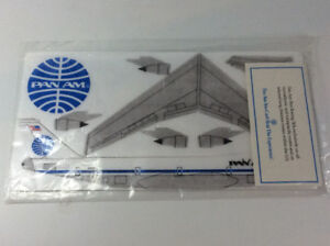 Vintage Pan Am 747 Styrofoam Model Kit