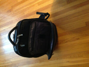 Leather laptop backpack Kenneth Cole