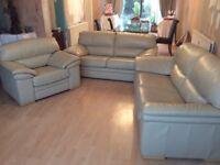 Leather sofas - 3 piece suite EXCELLENT CONDITION