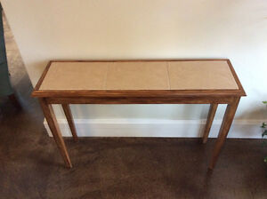 SOFA TABLE - Oak and Tile