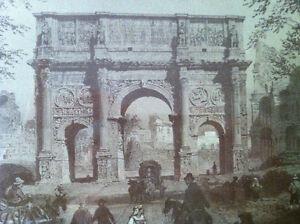 Felix Benoist Lithograph Rome dans sa grandeur Series Arc de Co Peterborough Peterborough Area image 3