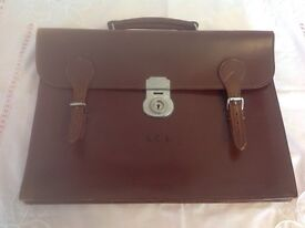 Traditional brown leather document / briefcases reduced price