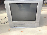 Television with built in DVD and VHS