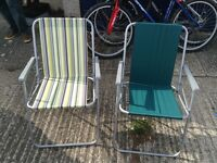 X2 foldable picnic chairs