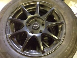 Custom Specialty Matte Black Rims and Brand New Summer Tires St. John's Newfoundland image 3