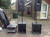 Disco pa sound system complete