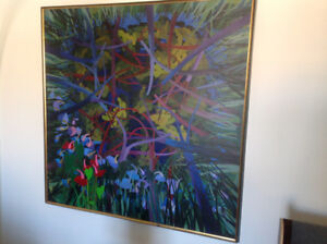 Large Oil Painting by Noted Canadian Artist Peter Bell 1972
