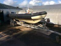 Team Osprey 6.5m RIB Boat 150 Johnson with trailer