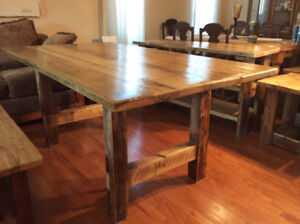 Rustic dining table,reclaimed wood,
