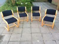 4 x Magnus Olesen Vintage Stylish Office/Dining Chairs.