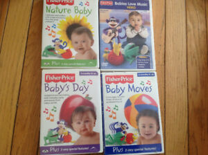 Lot/4 Fisher-price Baby Day, Moves, Nature, Music DVDs