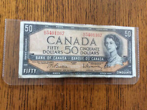 $50 Canadian Dollar Bill