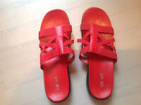 Red sandals size 8.5