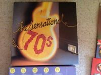 Box set of 10 LP records. Hits of the 1970s