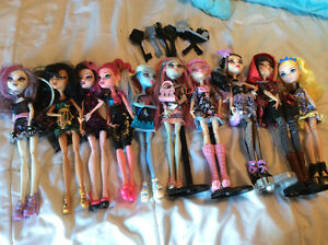 Monster high and ever after doll lot.  Cobourg