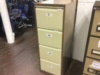 Bisley two tone brown metal filing cabinet